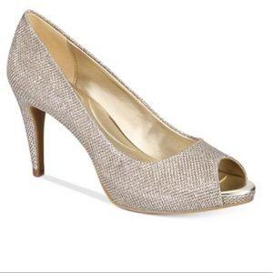 Bandolino Peep Toe Sparkly Heels